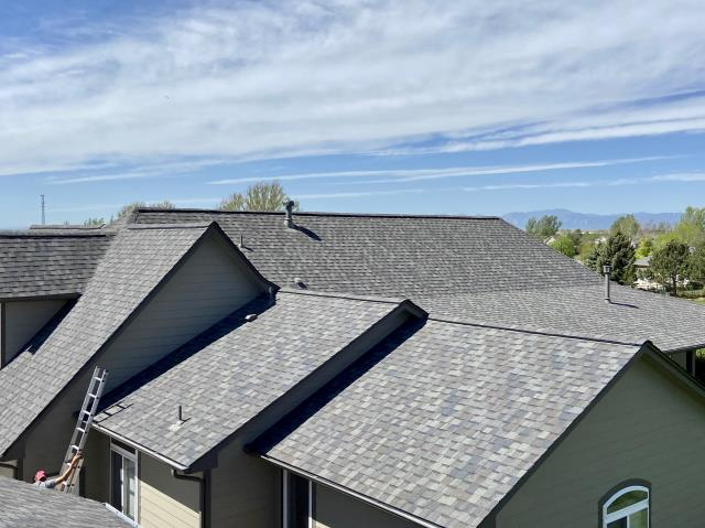 Longmont, CO - This roof the crew just finished up in Longmont looks so nice.  The shingles we installed are CertainTeed Northgate Class IV Impact Resistant shingles in the color Max Def Driftwood.