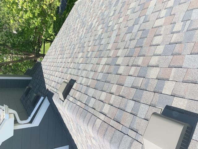 Fort Collins, CO - Nice roof top view on this roof in Fort Collins that we just installed.  The shingle that were installed are CertainTeed Northgate Class IV Impact Resistant shingles in the color Driftwood.