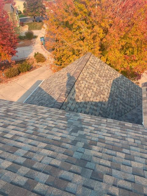 Windsor, CO - Look at those falls colors and how nicely they compliment this roof we installed in Windsor.  The shingles we installed are CertainTeed Northgate Class IV Impact Resistant shingles in the color Weathered Wood.