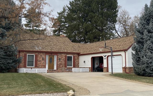 Longmont, CO - This new roof that we installed in Longmont has the tiniest bit of snow on it still from that last storm we got.  The shingles we installed are CertainTeed Northgate Class IV Impact Resistant shingles in the color Resawn Shake.