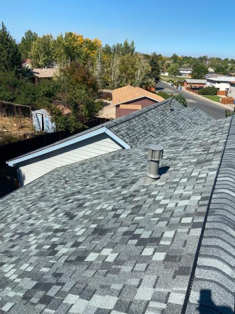 Loveland, CO - It's a sunny winter day in Loveland today - great day for roofing.  This roof we installed is a CertainTeed Northgate Class IV Impact Resistant roof in the color Granite Gray.