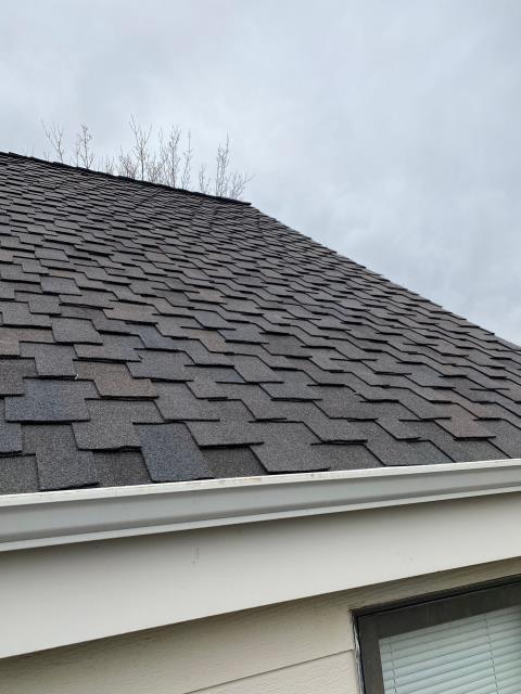 Fort Collins, CO - This is the second roof we have installed for this homeowner in Fort Collins due to hail damage.  The shingles we installed this second time are CertainTeed Presidential Shake Impact Resistant shingles.  Fort Collins requires that all shingles be impact resistant.  The shingle color is Shadow Gray.