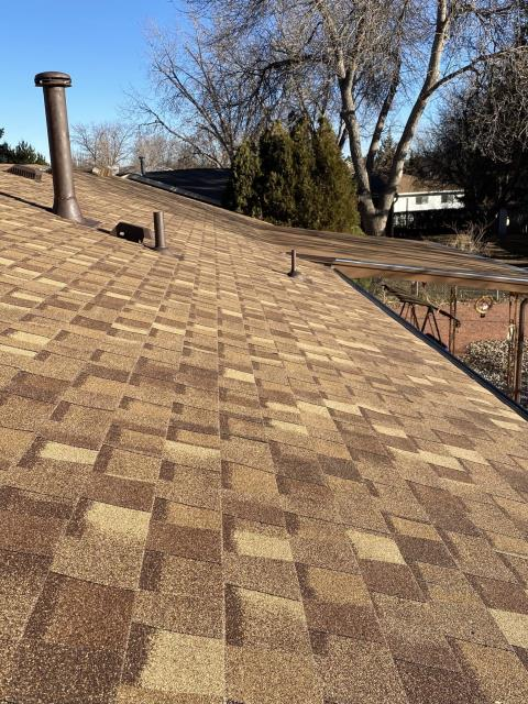 Longmont, CO - Resawn Shake is the color of this CertainTeed Northgate Class IV Impact Resistant roof that we installed in Longmont.