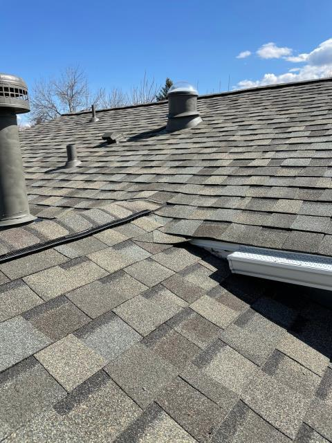Longmont, CO - This roof in Longmont is ready for the weather coming in this weekend and next week.  We installed a new CertainTeed Northgate Class IV Impact Resistant roof in the color Weathered Wood.