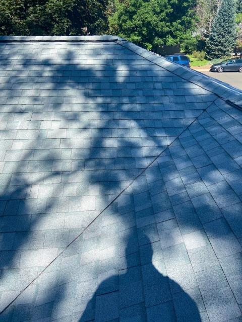 Fort Collins, CO - This roof in the shade on a warm sunny in Fort Collins is making me dream of summer!  We installed a CertainTeed Northgate Class IV Impact Resistant roof on this home in the color Silver Birch.