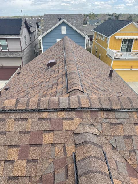 Lafayette, CO - This roof in Lafayette was in need of a new roof due to hail damage.  We installed a new CertainTeed Northgate Class IV Impact Resistant roof on it in the color Heather Blend.