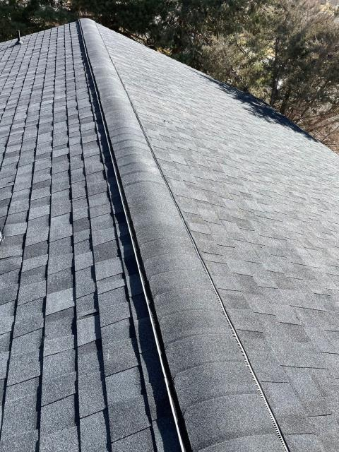 Longmont, CO - These CertainTeed Northgate Class IV Impact Resistant shingles in the color Moire Black, are installed on a home in Longmont - ready for spring storm season!