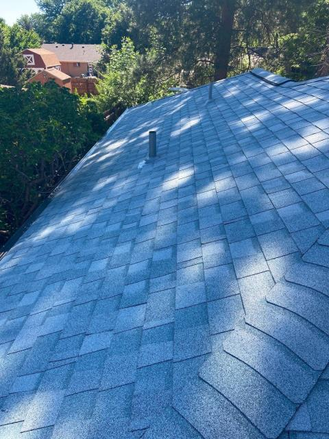 Fort Collins, CO - It is warming up out there!  Good day to be in the shade like this roof in Fort Collins that we installed.  It is a CertainTeed Northgate Class IV Impact Resistant roof in the color Silver Birch.