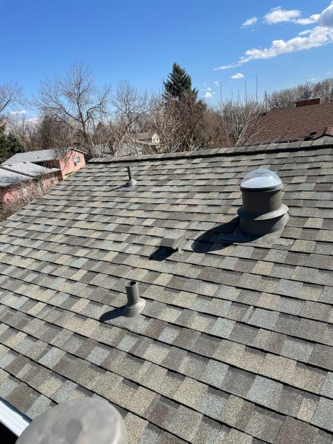 Longmont, CO - When we installed this CertainTeed Northgate Class IV Impact Resistant roof in Longmont, we also installed CertainTeed rolled ridge vent to provide the attic with better ventilation.