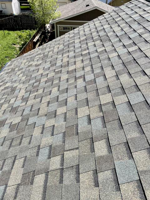 Longmont, CO - I really like the dimension on the roof that these CertainTeed Northgate Class IV shingles that we installed in Longmont create.  The color of the shingles you see here is Weathered Wood - the most popular shingle color.
