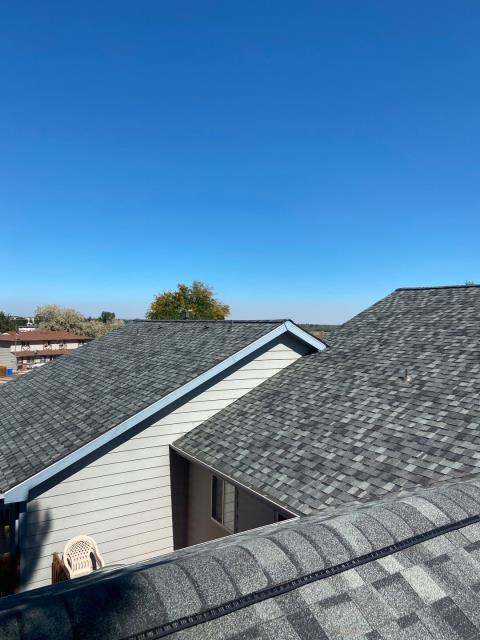 Loveland, CO - Granite Gray is the color of this CertainTeed Northgate Class IV Impact Resistant roof that we installed in Loveland.
