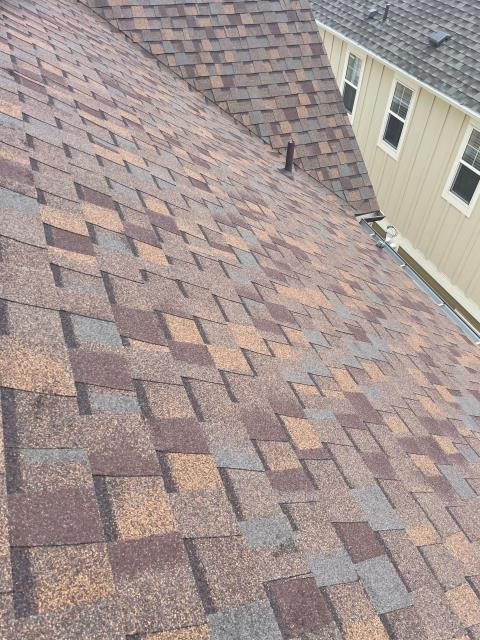 Lafayette, CO - This roof in Lafayette was in need of replacement due to hail damage.  We installed a new CertainTeed Northgate Class IV Impact Resistant Roof in the color Heather Blend.