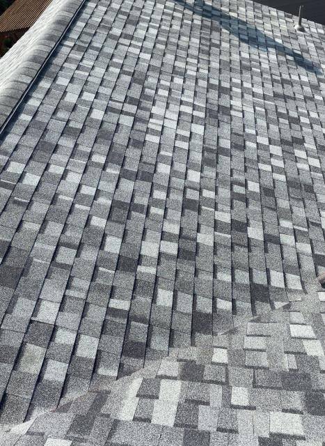 Mead, CO - Granite Gray is the color of this new CertainTeed Northgate Class IV Impact Resistant roof that we installed in Mead.  This roof was hit with hail, which caused damage and led to the roof needing to be replaced.