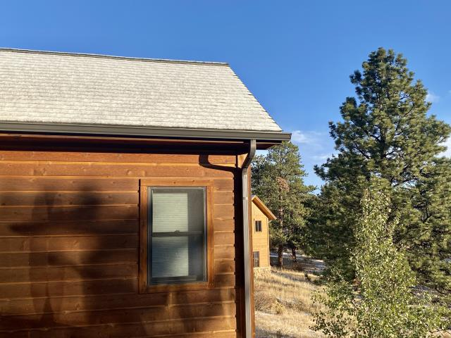 Estes Park, CO - That is snow up in Estes Park this morning!  If you need a roof replacement in the foothills or mountains, the window of time left to do it is rapidly dwindling...  Give us a call!