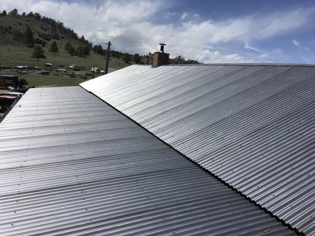 Virginia Dale, CO - Re-roofing the stagecoach stop at Virginia Dale was such a fun historic project to be involved in.  We installed a special metal roof that will rust over time to give the roof an aged look.