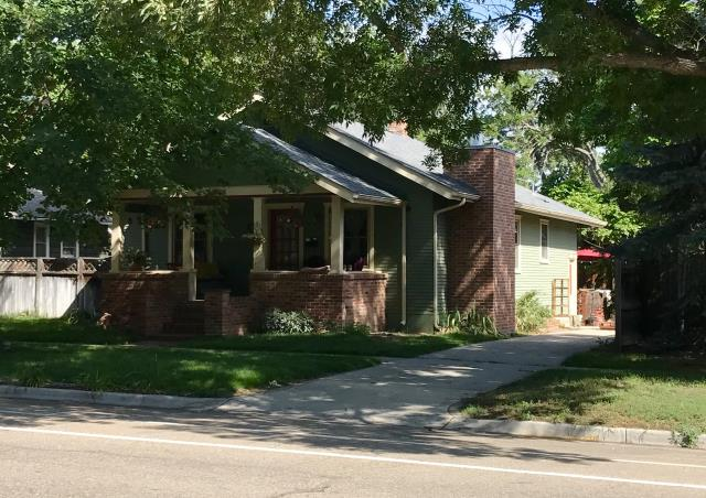 Longmont, CO - The beautiful old home that we just finished roofing is located in Longmont.  It will now have years of protection with its new roof.  The color of the shingles is Pewter Gray and the shingles are GAF Timberline HD shingles.