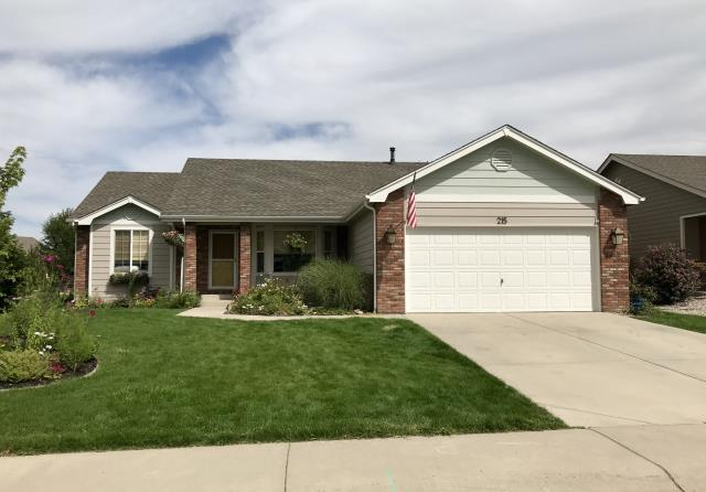 Johnstown, CO - We roofed this house in Johnstown that was hit with hail.  The color of the roof is Weathered Wood and the shingles are GAF Timberline HD shingles.  The customer was very happy - she left us a review on Angie's List.