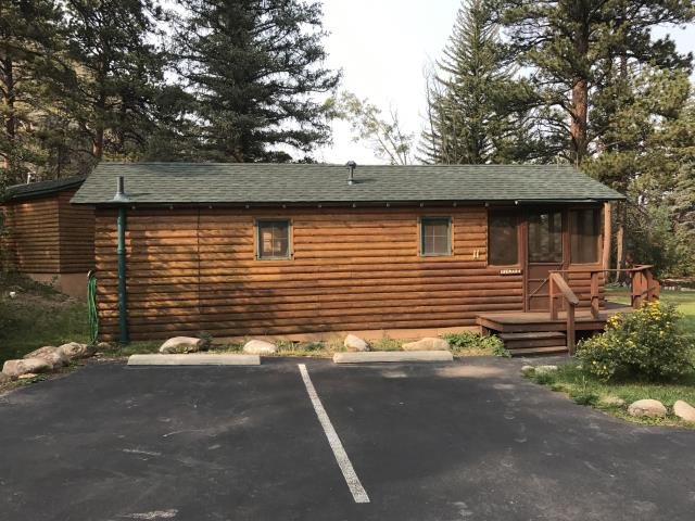 Estes Park, CO - If you are looking for a great place to stay in Estes Park, this is the place!  Idlewilde by the River.  They have lots of cabin choices and they are all right on the river.  The couple that manages the place are wonderful to work with too.  It was such a beautiful place for our crew to work yesterday.  Cabin #11 has a new roof to boot.  The shingles are GAF Timberline HD shingles in the color Hunter Green.  Check this place out! http://www.idlewilde.net/