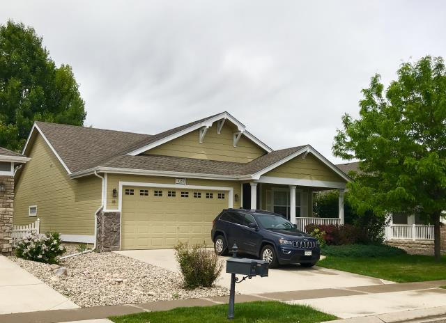 Windsor, CO - We did four houses in Windsor all right near each other for one owner.  This is number three of four.  We installed GAF Timberline HD shingles in Weathered Wood on this home.