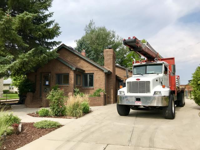 Mead, CO - A roof is being loaded in Mead.  We will be installing GAF Timberline HD shingles in Hickory on this house.  Watch for finished pictures coming soon...