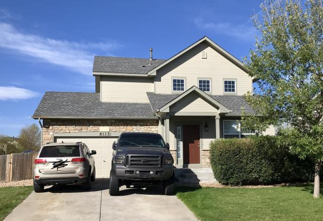 Frederick, CO - This house in Frederick was just re-roofed by us due to hail damage.  We installed GAF Timberline HD shingles in the color Pewter Gray.