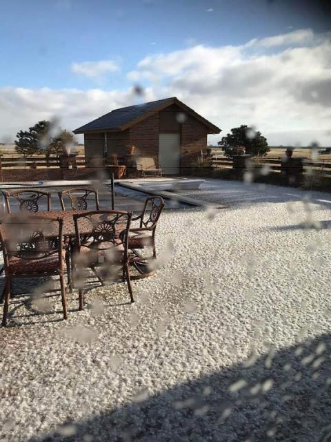 Mead, CO - We thought our weather in CO was crazy!  In Oklahoma yesterday it hailed and then the hail froze.  That's just nuts!  Hope they took pictures of the hail frozen to their roofs.