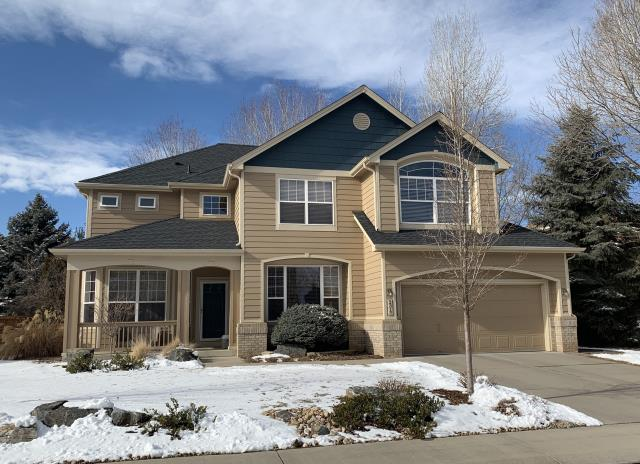 Longmont, CO - This beautiful home in south Longmont was re-roofed due to hail damage using GAF Timberline HD shingles in the color Charcoal.