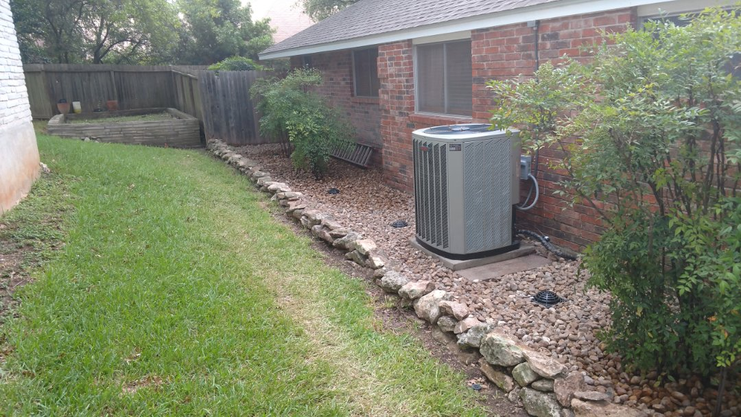 San Antonio, TX - Finalized a surface drainage system in San Antonio, 78230