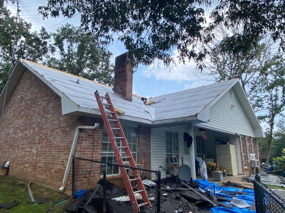 Florien, LA - 50 sq complete re-roof