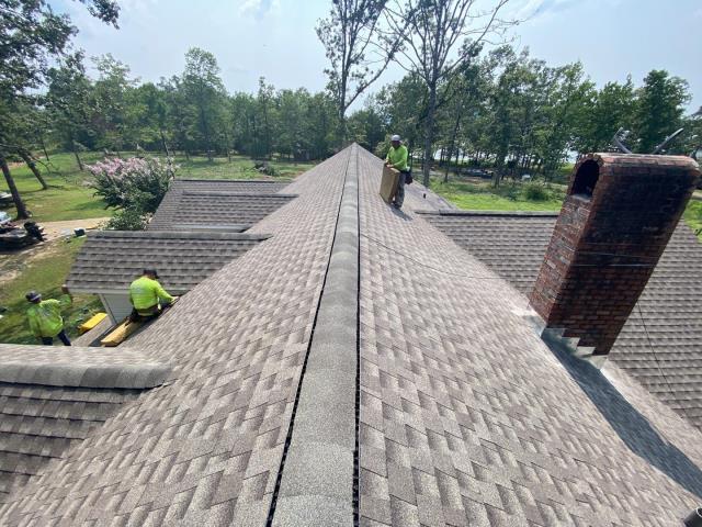 Florien, LA - Complete Shingle Roof Installation. GAF. Golden Pledge Warranty.