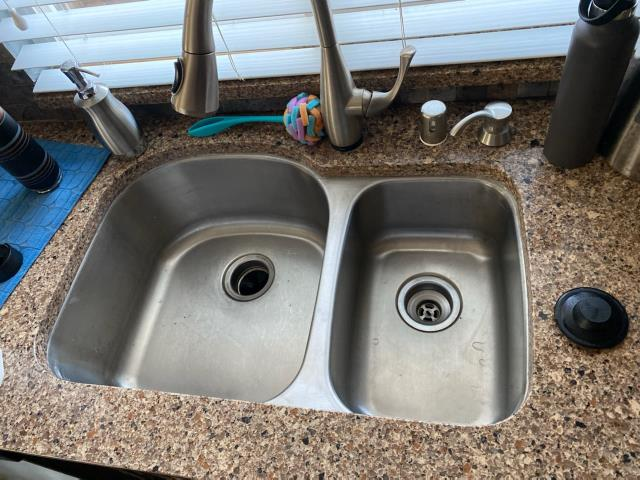 Tracy, CA - Matthew could not get another company to even try this sink reinstall due to the sink falling down.  P&M Prestigious Plumbing to the Rescue