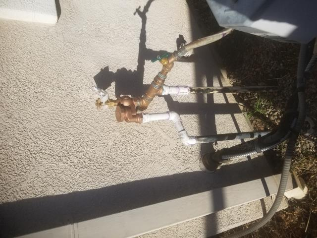 Tracy, CA - Replaced leaking Vacuum breaker and Tee
