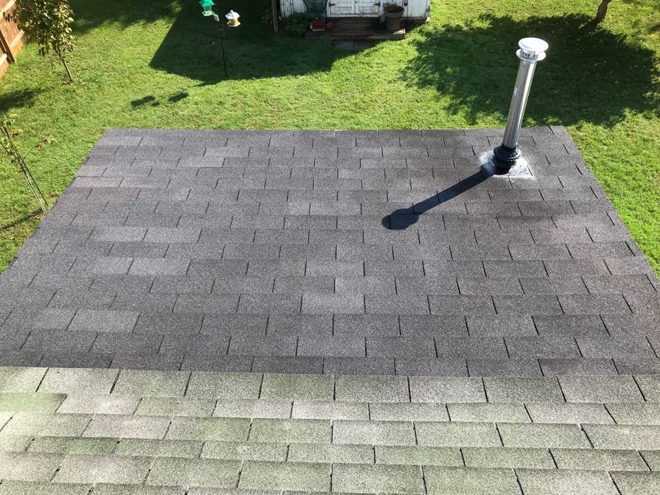 Shelbyville, KY - Low pitch slopes require low pitch roofing materials, not shingles.