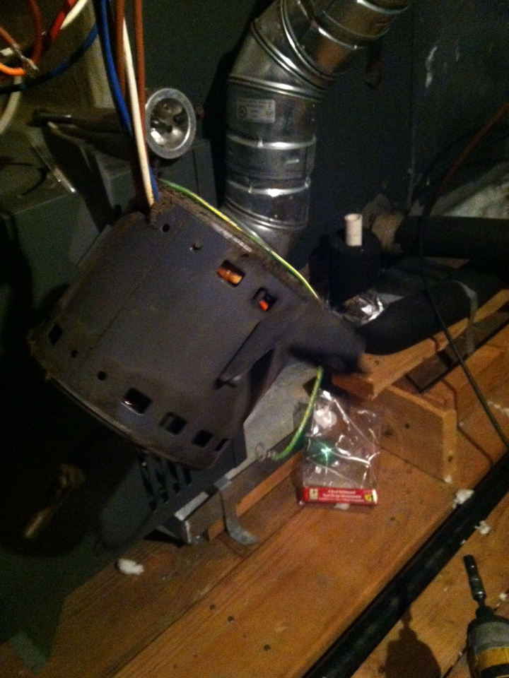 Fresno, TX - Replaced faulted air movement motor in Goodman furnace.