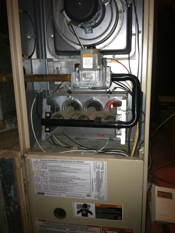 Repaired Hot Surface Ignitor on 2002 Lennox Furnace