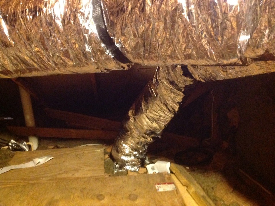 Friendswood, TX - Inspected new duct work