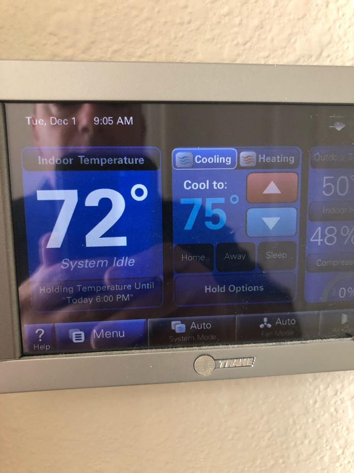 Missouri City, TX - Replaced faulty thermostat.