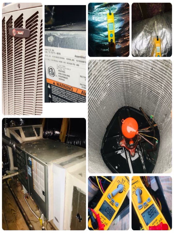 League City, TX - Ac tune up, amped all major components and tighten all electrical, checked drains and coils, checked pressures and washed down condenser.