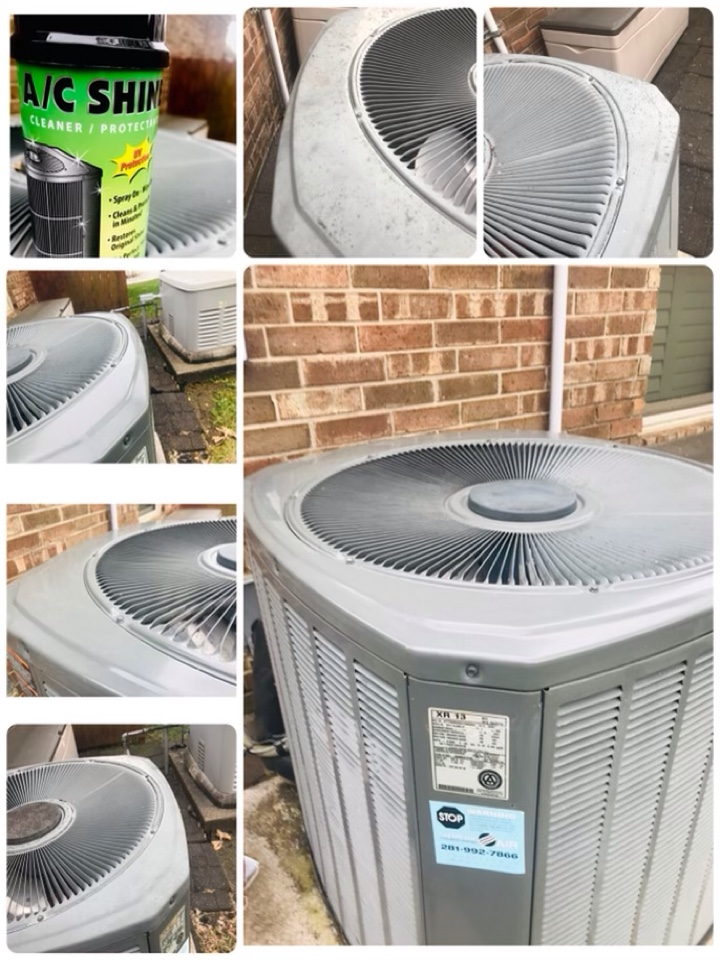 League City, TX - Ac tune up, amped all major components and tighten all electrical, checked drains and coils, checked pressures and shine condenser.