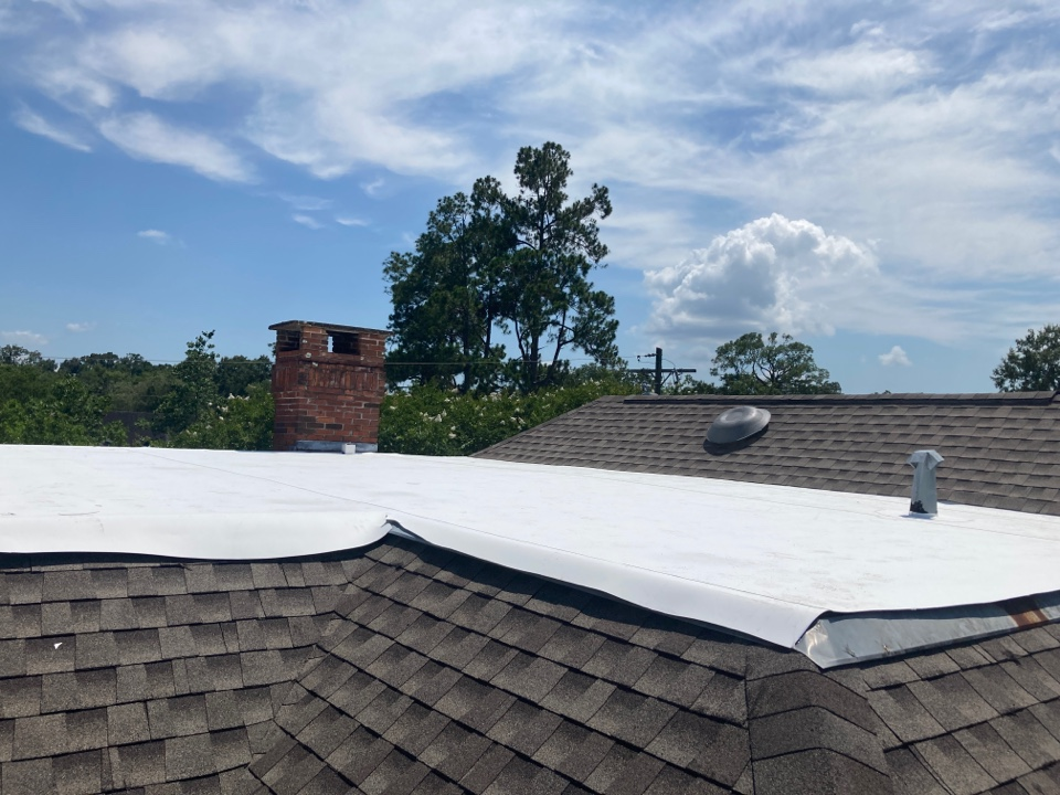 Baton Rouge, LA - Second phase of re-roof on McConnell Drive