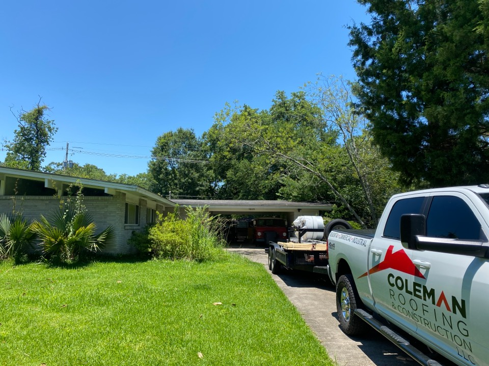 Baton Rouge, LA - About to start another standing seam roof.