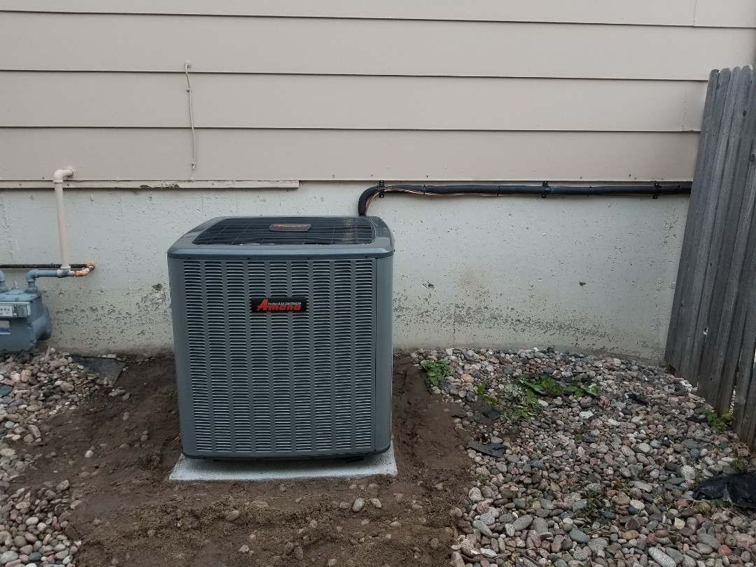 Colorado Springs, CO - Install air conditioner Amana 3 ton 16 Seer