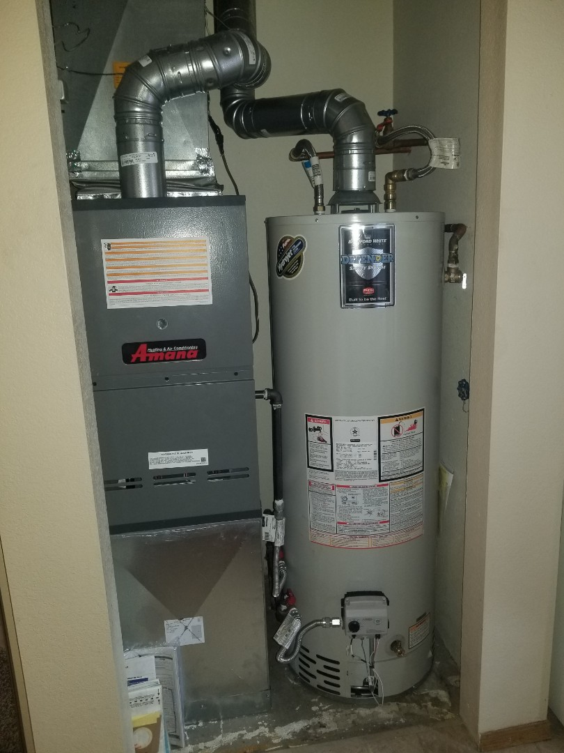 Colorado Springs, CO - Amana downflow furnace  and water heater install