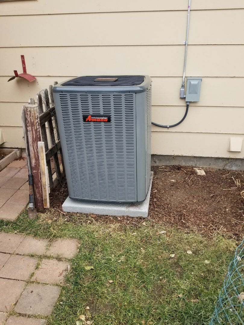 Colorado Springs, CO - New Amana furnace and air conditioner with Aprilaire whole home humidifier and thermostat