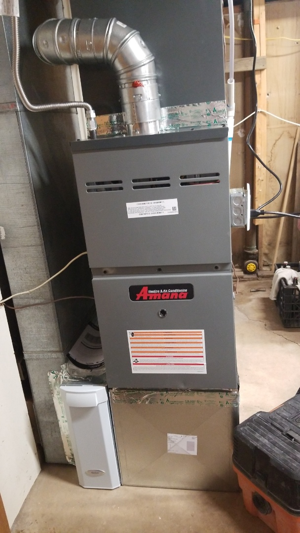 Fountain, CO - Install new Amana furnace and 2.5 ton condenser with Aprilaire 700 humidifier