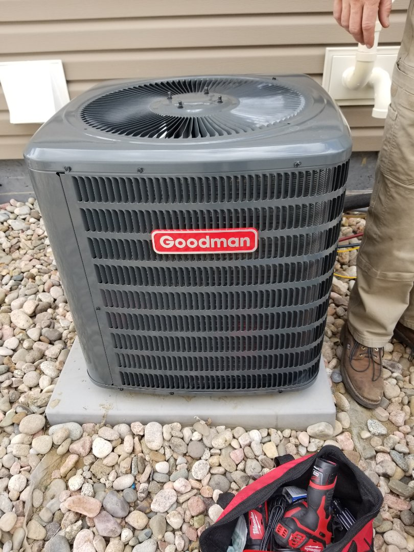 Fountain, CO - Goodman condenser and coil install.