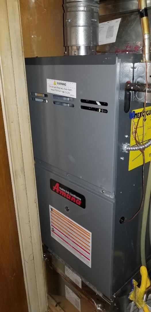Colorado Springs, CO - Amana furnace install