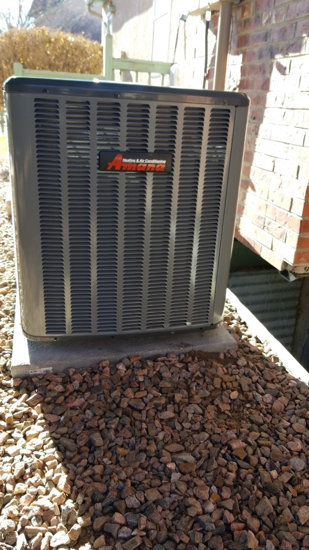 Colorado Springs, CO - Amana furnace and condenser with Goodman evaporative coil install