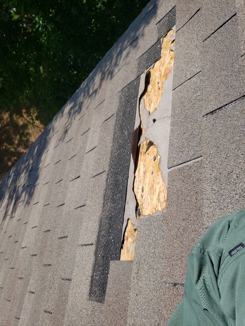 Euless, TX - High winds and blown off shingles repair.