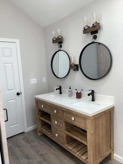 Kings Park, NY - Save time getting ready to leave with a brand new double sink! Another beautiful full bathroom remodel for our Elite crew!! Looks great! Thank you to the Bartley family!  KOHLER #bathroomdesign #designinspiration #homedecor #elitequality